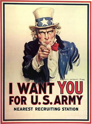 Painting - Uncle Sam Wants You For The Us Army Vintage Ww2 Poster by R Muirhead Art