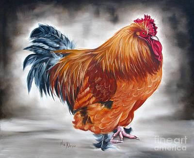 Uncle Samie's Rooster Art Print by Ilse Kleyn