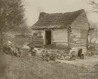 Old Log Cabin Photograph - Uncle Tom's Cabin by American School