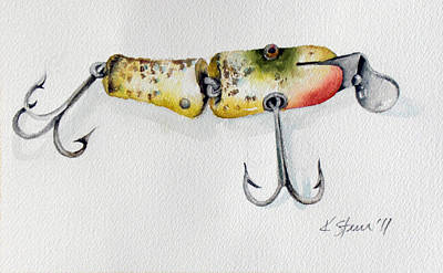 Uncle Tom's Lures No. 4 Art Print by Kathy Sturr