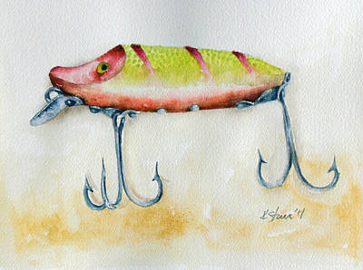 Uncle Tom's Lures No. 5 Art Print by Kathy Sturr