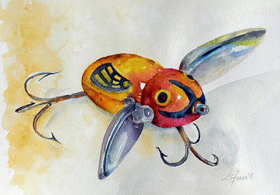 Uncle Tom's Lures No. 7 Art Print by Kathy Sturr