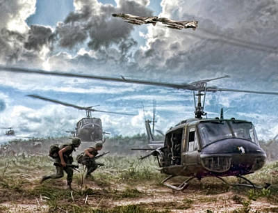 Helicopter Digital Art - Uncommon Valor by Peter Chilelli