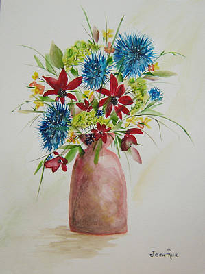Painting - Uncomplicated Arrangement by Judith Rhue