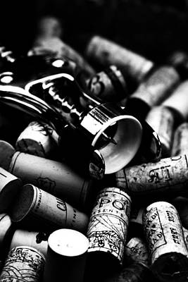 Blackwhite Photograph - Uncorked by Romina Ludovico-Pfosi