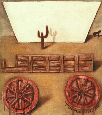 Painting - Tommervik Uncovered Wagon Art Print by Tommervik