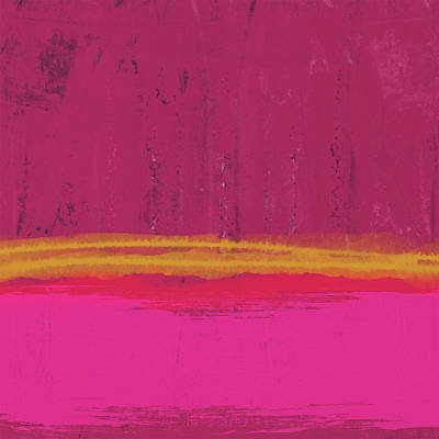 Color Block Mixed Media - Undaunted Pink Abstract- Art By Linda Woods by Linda Woods