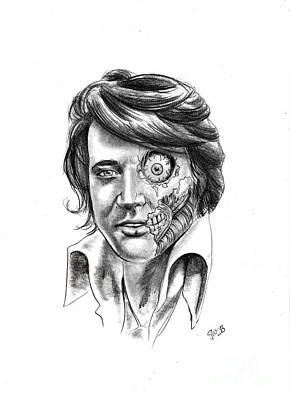 Drawing - Undead Elvis by Samantha Strong