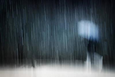 Street Photograph - Under A Heavy Snowfall by Antonio Grambone