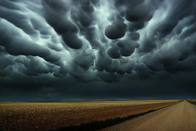 Photograph - Under A Mammatus Sky by Brian Gustafson