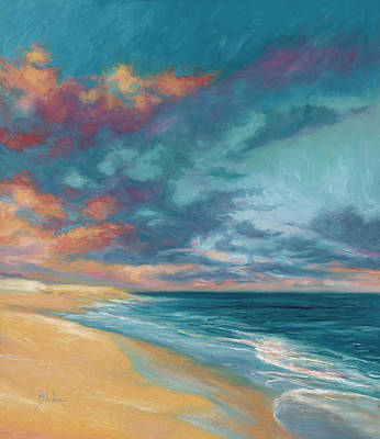 Under A Painted Sky Art Print by Lucie Bilodeau