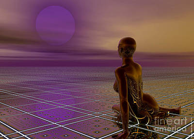 Digital Art - Under A Purple Moon by Sandra Bauser Digital Art