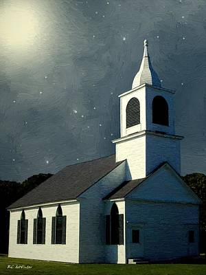 Maine Landscapes Painting - Under A Quiet Sky by RC deWinter