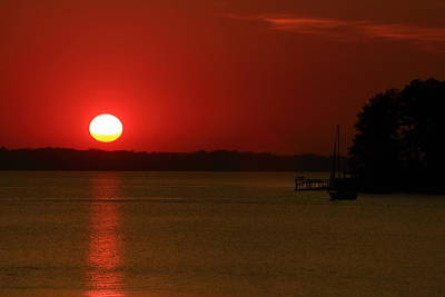 Photograph - Under A Red Sunset by Joseph C Hinson Photography