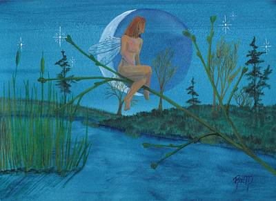Painting - Under A Spring Moon... by Robert Meszaros