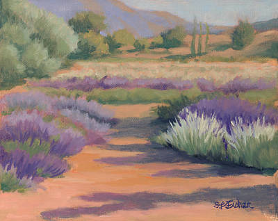 Painting - Under A Summer Sun In Lavender Fields by Sandy Fisher