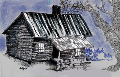 Sethweaver Drawing - Under A Tin Roof by Seth Weaver