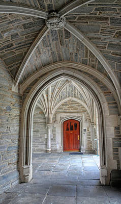 Photograph - Under An Arch At Princeton University by Dave Mills