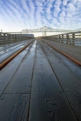 Photograph - Under Astoria Megler Bridge On Riverwalk by David Gn