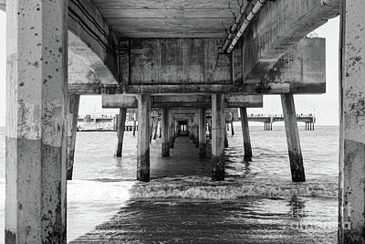 Under Belmont Veterans Memorial Pier Art Print by Ana V Ramirez