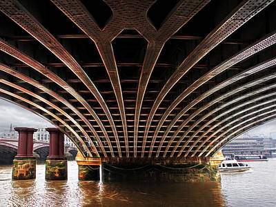 Photograph - Under Blackfriars Railway Bridge by Gill Billington
