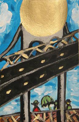 Painting - Under Brooklyn Bridge Ny II by Krisztina Asztalos