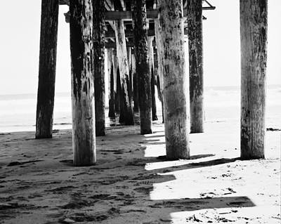 Bruce Wayne Photograph - Under Cayucos Pier by Bruce Wayne