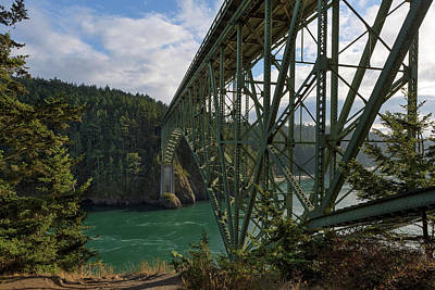 Photograph - Under Deception Pass Bridge by David Gn