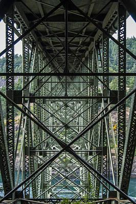 Deception Photograph - Under Deception Pass Bridge by Pelo Blanco Photo