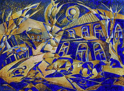 Under Gold Light Art Print by Andrey Soldatenko