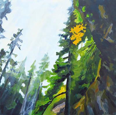 Under Grotto Falls Original by Kristen O'Neill