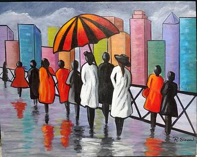 Painting - Under My Umbrella by Rosie Sherman