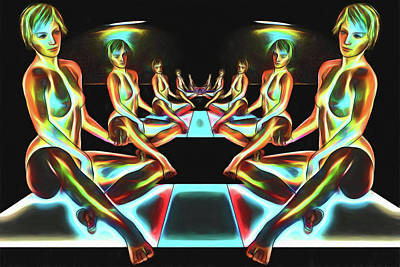 Digital Art - Under Neon Lights by John Haldane