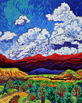 Painting - Under New Mexico Skies by Cathy Carey