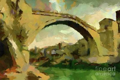 Painting - Under Old Bridge by Dragica Micki Fortuna