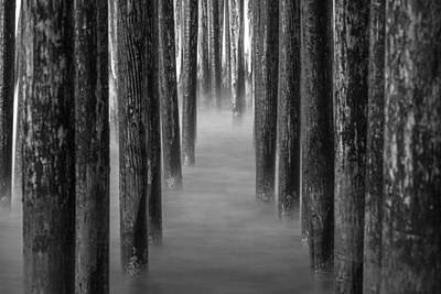 Photograph - Under Pismo Pier Black And White Morning by John McGraw