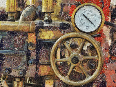 Digital Art - Under Pressure by Leigh Kemp