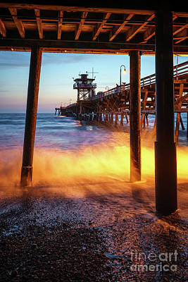 San Clemente Photograph - Under San Clemente Pier California Photo by Paul Velgos