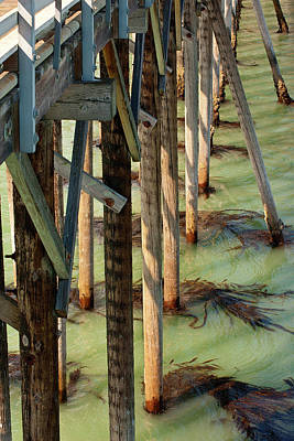 Photograph - Under San Simeon Pier by Art Block Collections