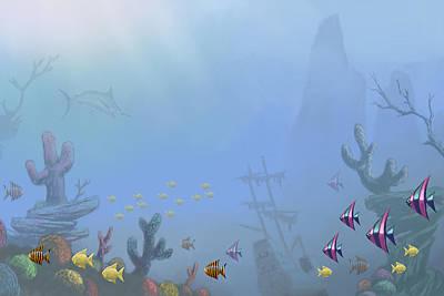Under Sea 01 Art Print