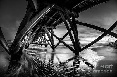 Photograph - Under Sea Cabin Pier At Sunset by David Smith