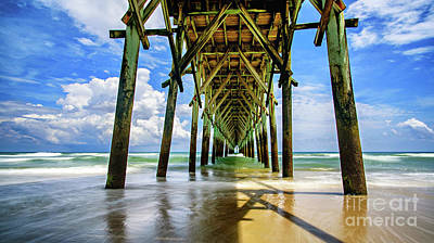 Photograph - Under Surf City Pier by DJA Images