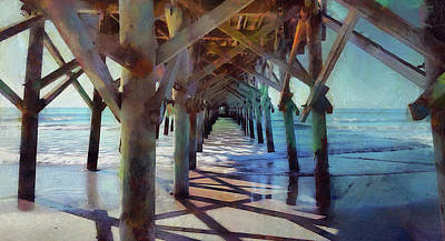 Photograph - Under The Apache Pier by Cedric Hampton