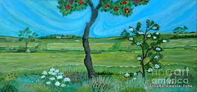 Folkartanna Painting - Under The Apple Tree by Anna Folkartanna Maciejewska-Dyba