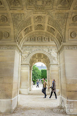 Arc De Triomphe Du Carrousel Wall Art - Photograph - Under The  Arc Du Carrousel, Paris by Liesl Walsh