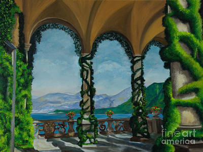 Bellagio Painting - Under The Arches At Villa Balvianella by Charlotte Blanchard
