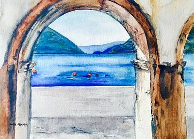 Wall Art - Painting - Under The Arches by Sonia Mocnik