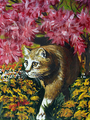Painting - Under The Azaleas by Karon Melillo DeVega