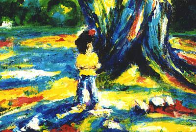 Under The Banyan Tree#201 Art Print by Donald k Hall