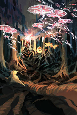 Digital Art - Under The Bayou by Ellan Suder